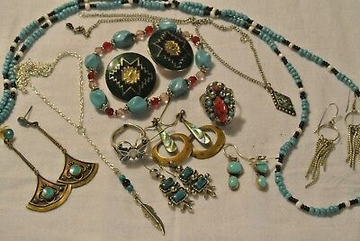 Lot Of 11 Pcs Vintage Jewelry Signed Art & Signed 925 Sterling Pcs Rings Butterf