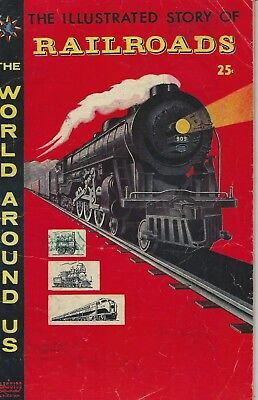 The World Around Us The Illustrated Story of Railroads 1958