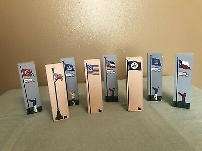 Cat's Meow State Flags & American Flags - Lot of 8