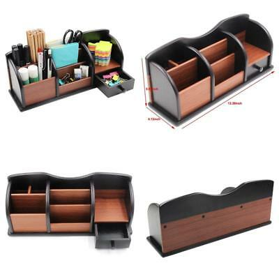Office Wooden Desk Organizer Storage With 7 Storage Compartments and 1 Drawe