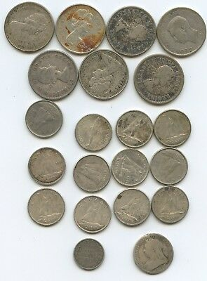 Lot Of Canadian Quarters And Dimes -Silver-