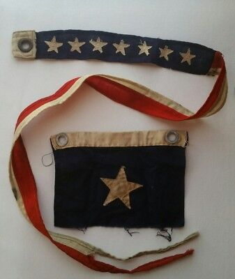 WWII ERA 7 STAR SHIP COMMISSIONING PENNANT NAUTICAL U.S. AMERICAN FLAG Vintage
