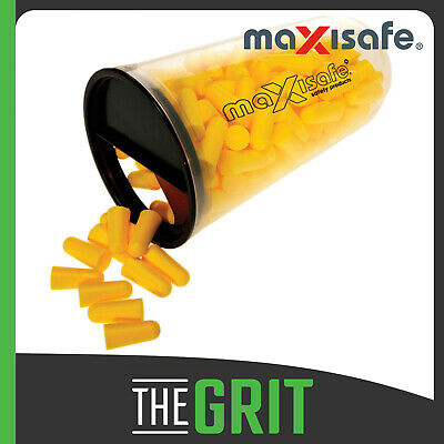 Maxisafe Tapered Uncorded Earplug Tradies Bulk 100 Pack Hearing Protection