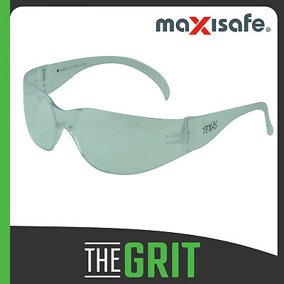 Maxisafe Texas Clear Safety Glasses Anti-Fog Protective Eyewear Eye Protection