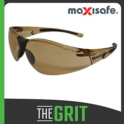 Maxisafe SantaFe Bronze Safety Glasses Anti-Fog Protective Eyewear Eye Protectio