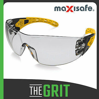 Maxisafe Evolve Silver Mirror Safety Glasses Gasket Headband Protective Eye Wear