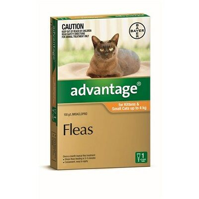 New Advantage Flea Treatment for Small Cats up to 4kg Pack of 1