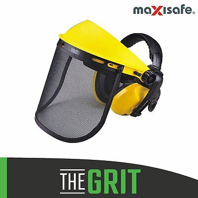 Maxisafe Mesh Safety Protector Visor Earmuffs Chainsaw Brushcutter Work Shield