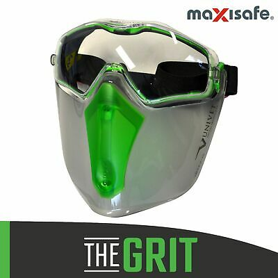 Maxisafe 6X3 Safety Goggle & Visor Combo Face Eye Goggles Protection