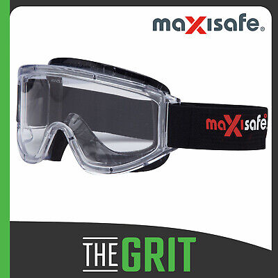 Maxisafe Maxi Goggles Anti-Fog & Foam Bound Eye Protection Safety Goggles