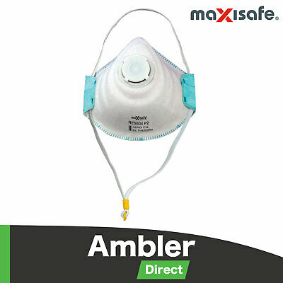 Maxisafe P2 Dust Valve Respirator Work Safety Protection Bulk Buy 10