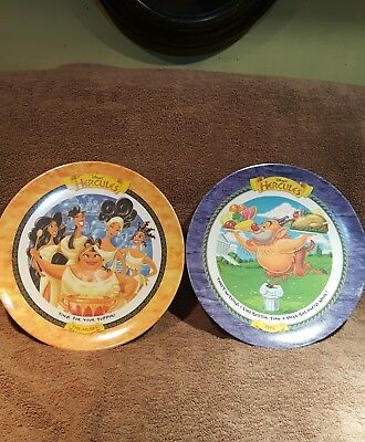 Disney Hercules Plates 1997 The Muses and Phil