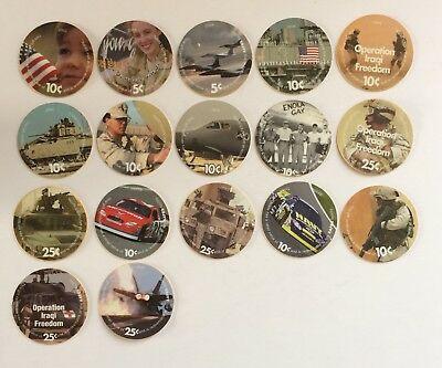 AAFES Pogs - 2003/2004/2005 Mixed Lot of 17