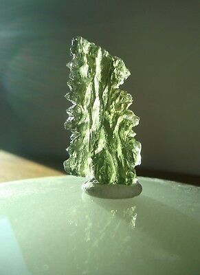 BESEDNICE MOLDAVITE • 5.1gm or 25.5ct  • Classic Color & Texture Qualities!