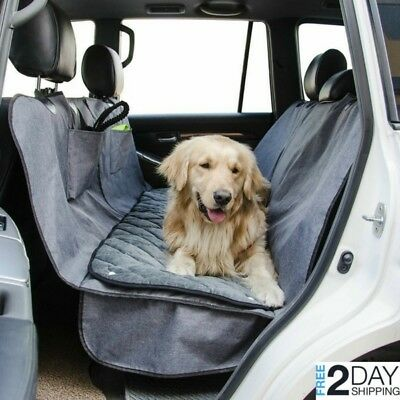 Dog Car Seat Cover Pet Back Hammock Protector w/ Removable Velvet Pad Waterproof