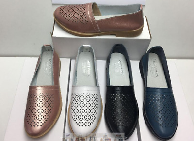 Leather loafer auyi flat moccasin ladies womens resort cruise travel
