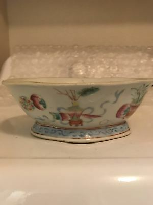 19C Chinese Antique Famille Rose Bowl
