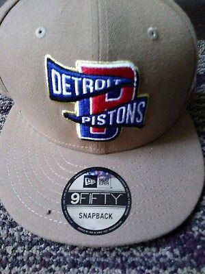 new style ff1f1 27edd Detroit Pistons New Era 9FIFTY NBA Adjustable Statement Snapback Hat Cap  9fifty