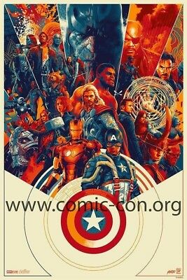 SDCC 2018 Comic Con Marvel Avengers Exclusive Print Signed by Matt Taylor