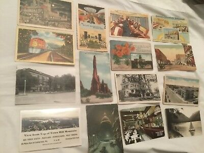 Large Lot Of Over 500 Old Postcards, All Usa, All Standard Size
