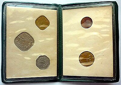 1951 / 1953 Pakistan - Official Mint Set (5) - Pie, Pice & Anna - Green Wallet