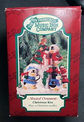 The San Francisco Music Box Co. 1996 Christmas Kiss - Works Perfectly - NEW