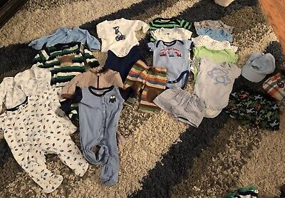 Lot Of 30 Summer/Spring Clothes/Outfits Baby Boy 0-3 Months Shorts Pants Shirts