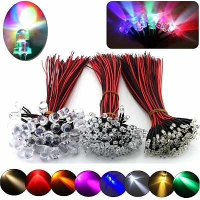 100/500pcs 3mm/5mm/10mm  Pre-Wired LED Bulb light Emitting Diodes 11 Color Bulbs