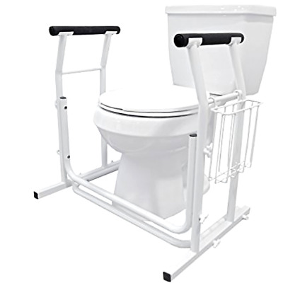Medical Bathroom Adjustable Toilet Rail Grab Bar and Commode Safety Frame Handle