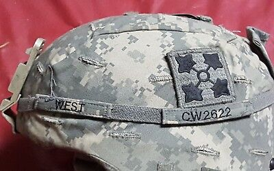 US Advanced Combat Helmet ACH 4th INFANTRY Named Cat Eye M Iraqi Afghanistan #2