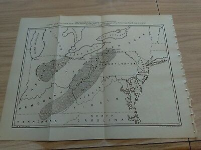 1907 Map Independent Refineries Pure Oil Co. Lima Indiana Appalachian Oil Field