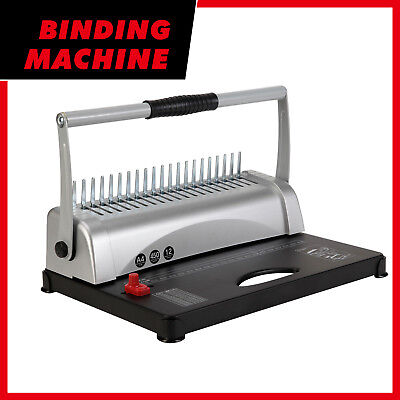 BN Dual Handle Binding Machine 21 Hole 450 Sheet Comb Paper Punch Binder W/Combs