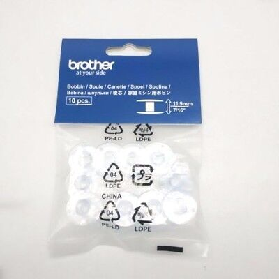 Brother Bobbins  11.5Mm   Sa156    Pack Of 10 Plastic