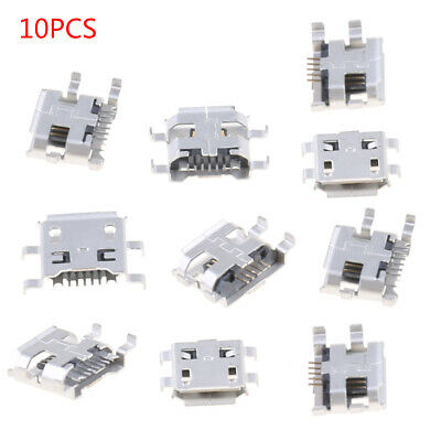 10x 0.72mm Micro USB Type B Female Socket Connector For Phone Tablet Charging