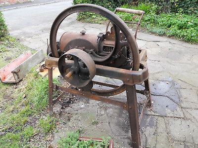 Vintage Cast Iron Bamfords Chaff Cutter (hand or stationary engine powered) MKB4