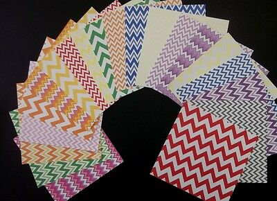 "ZIG ZAG  BASICS x 20 ~Scrapbooking/Cardmaking Papers~ 15cm x 15cm (6"" X 6"")"