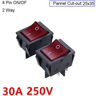 30A High Current 4Pin On/Off Rectangle Rocker Switch Welding Machine Welder 250V