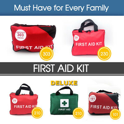 303 230  210 Pcs Emergency First Aid Kit Bag ARTG Sticker Survial Camping Family