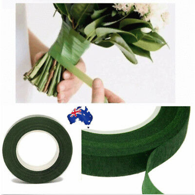 2 X Wedding Florist Craft Stem Wrap Floral Paper Tape Waterproof 12mm x 27m