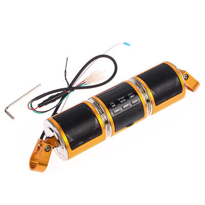 Waterproof MP3 Electricbicycle Audio Radio System Stereo Speaker USB TF AUX Gold