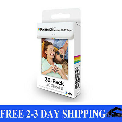 Polaroid 2x3 Inch Zink Photo Paper 30 Sheets Snap Z2300 Zip