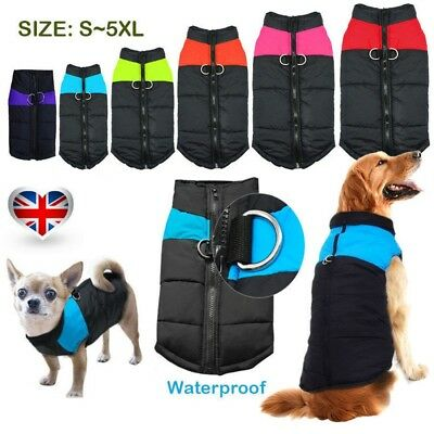 Large Dog Jacket padded waterproof Pet Clothes Warm windbreaker Vest Coat Winter
