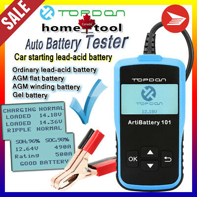 Auto Car Battery Load Tester Charging System Analyzer 100-2000CCA 12V 24V Truck