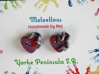 Placenta earrings Melvellous polymer clay