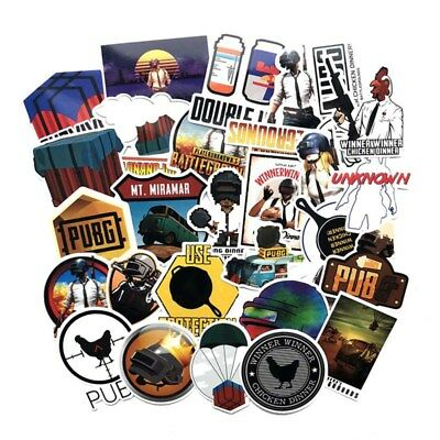 29pcs Game Stickers PUBG Game Stickers For Skateboard Laptop Luggage Car Decals