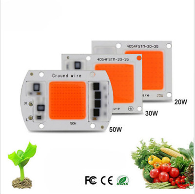 LED Chip Integrated Smart IC Driver Plant Grow 220V 10W 20W 30W 50W