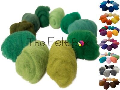 Carded Wool For Felting Needle Felting Wool Shade Pack 100 grams 3.5 Oz