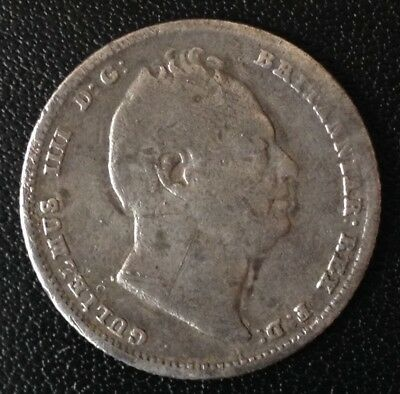 1837 William IV Sixpence Silver Coin