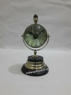 Vintage Style Chrome Clock Home Decoration Table Desk / Clock