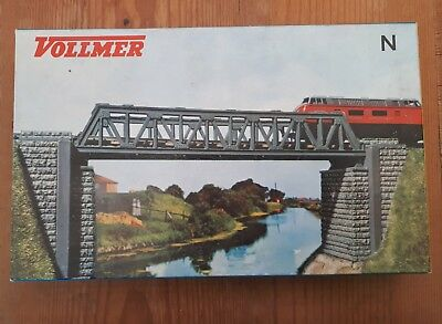 Vollmer Steel truss bridge. N scale. Boxed N 7800